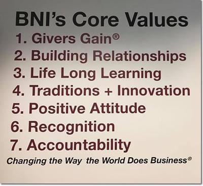 BNI Core Values